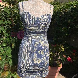 Insight stretch fitted denim mini dress